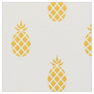 Tropical Yellow Pineapple Fabric