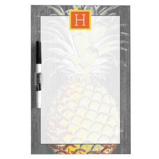 Tropical Yellow Pinneapple on Grey Dry Erase Board