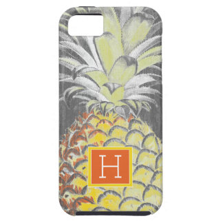 Tropical Yellow Pinneapple on Grey iPhone 5 Case