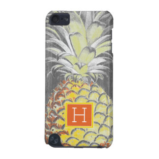Tropical Yellow Pinneapple on Grey iPod Touch (5th Generation) Case