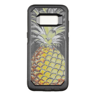 Tropical Yellow Pinneapple on Grey OtterBox Commuter Samsung Galaxy S8 Case