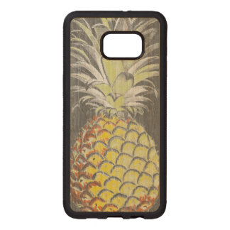 Tropical Yellow Pinneapple on Grey Wood Samsung Galaxy S6 Edge Case