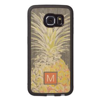 Tropical Yellow Pinneapple Wood Phone Case