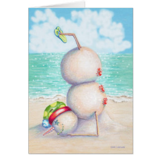 Tropical Yoga Christmas Card