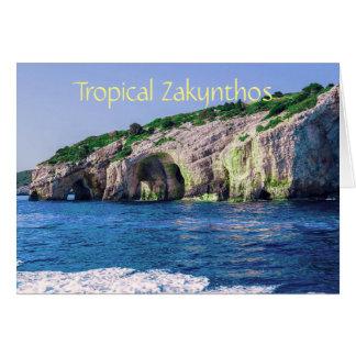 Tropical Zakynthos Card