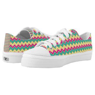 Tropical Zigzag Zipz Low Top Shoes
