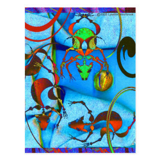 TropicalDog Blue Postcard