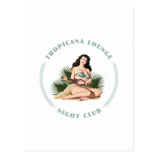 Tropicana Night Club 1 Tropicana Lounge Hula Girl Postcard