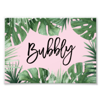 Tropics Bubbly Print Art Photo