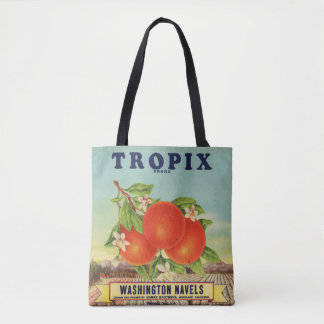 Tropix Brand Orange Crate Label Tote Bag