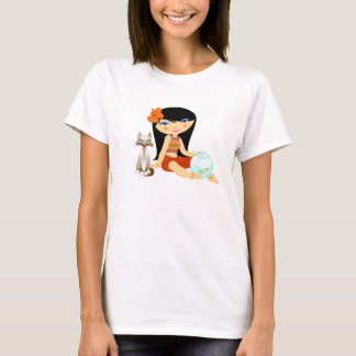 Tropo Girl and cat T-Shirt