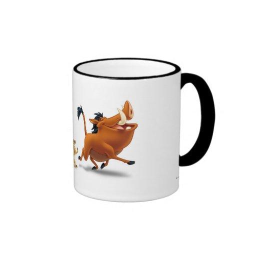Trot de chant de pumbaa de timon de petit animal d tasse à café