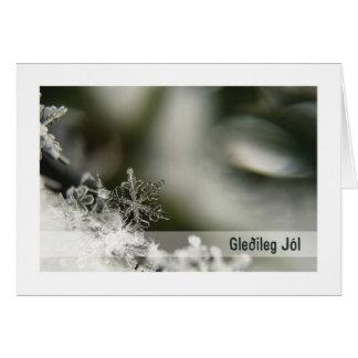 Troth Yule Card :: Ice Crystal Yule