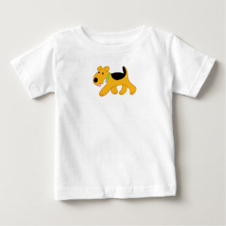 Trotting Airedale Terrier Puppy Baby T-Shirt