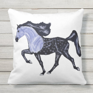 Trotting Arabian Horse Outdoor Pillow