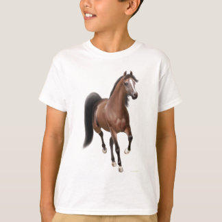Trotting Bay Horse Kids T-Shirt