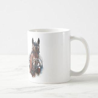 trotting horse art. Customize me. Coffee Mug