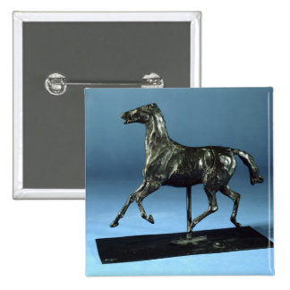 Trotting Horse (bronze) 2 Inch Square Button