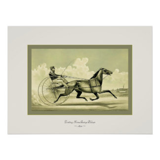 Trotting Horse George Palmer ~ 1870 Poster