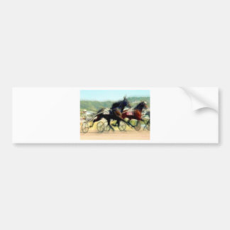trotting power horse racing bumper sticker
