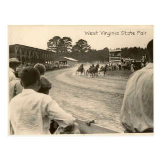 Trotting race, West Virginia State Fair Postcard