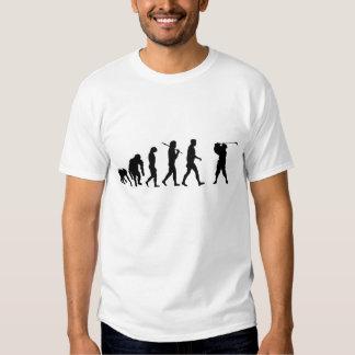 Trou de chemises de joueurs de golf dans une tee-shirt