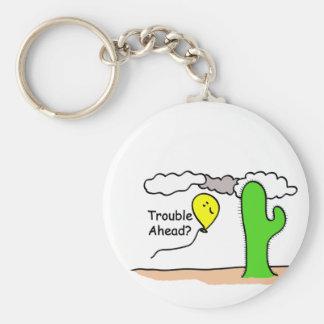 Trouble Ahead Keychain