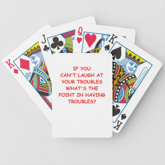 TROUBLE BICYCLE PLAYING CARDS