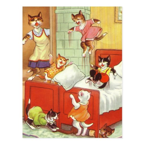 Trouble in the Bedroom Post Cards