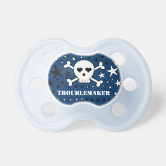 Troublemaker Cute Skull and Crossones Pacifier