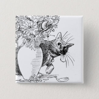Troublemaker - Mischievious Cat Button