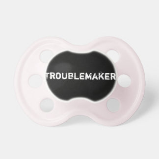 Troublemaker - Pink Baby Pacifiers