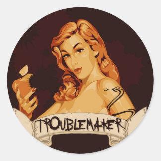 TroubleMaker Round Sticker