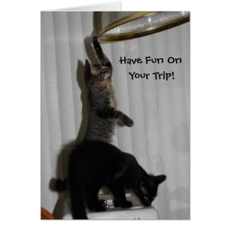 "Troublemakers ""Fun on Your Trip"" Greeting Card"