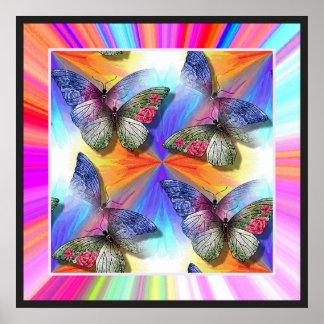 Troupeau d affiche de papillons