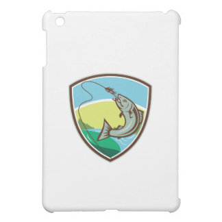 Trout Biting Hook Lure Shield Retro Cover For The iPad Mini