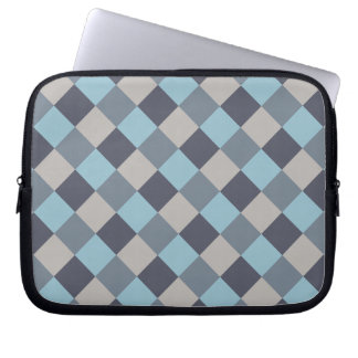 Trout Blue Gray Cotton Seed Checkerboard Laptop Sleeve