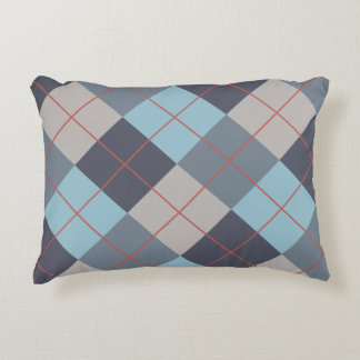 Trout Blue Gray Cotton Seed Orange Red Pattern Accent Pillow