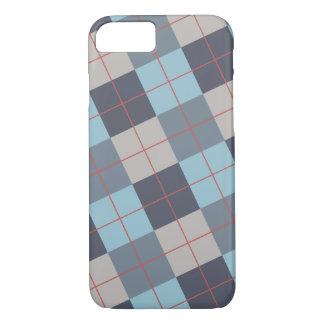 Trout Blue Gray Cotton Seed Orange Red Pattern iPhone 8/7 Case