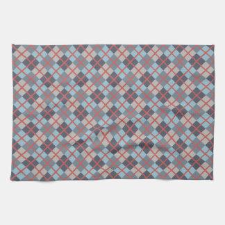 Trout Blue Gray Cotton Seed Orange Red Pattern Kitchen Towel