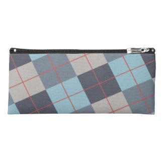 Trout Blue Gray Cotton Seed Orange Red Pattern Pencil Case