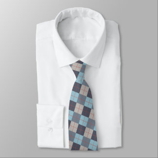 Trout Blue Gray Cotton Seed Orange Red Pattern Tie