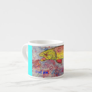 trout bum art espresso cup