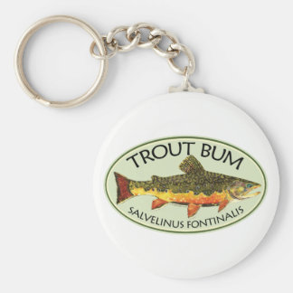 Trout Bum Fishing Keychain