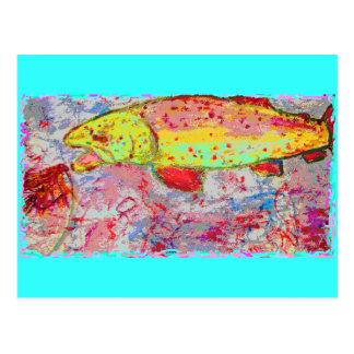 Trout Bum Postcard