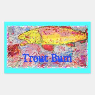 Trout Bum Sticker