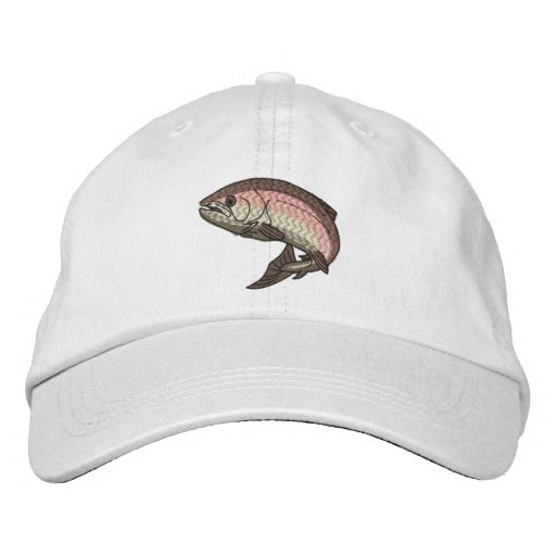 Trout Embroidered Hats