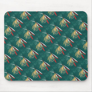 """Trout Fin Tiled"" Trout Fly Mousepad"