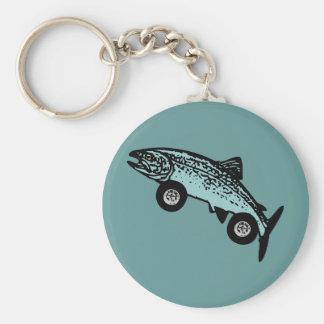 Trout Fish Race Car Key Chains