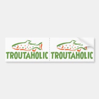 Trout Fisherman Fishing Bumper Sticker